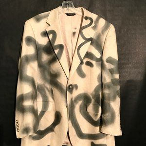 JOS A BANKS X CUSTOM Blazer Graffiti Couture SILK